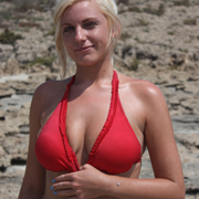 claudia_removes_her_red_bikini_top-6